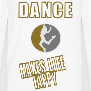 dance makes life happy (redesigned) T-Shirts - Männer Premium Langarmshirt