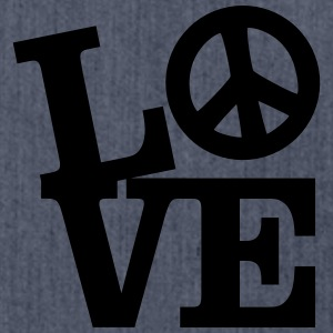 Love - Peace T-Shirts - Shoulder Bag made from recycled material