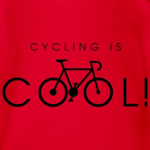 cycling_is_cool_09_2016 T-Shirts - Baby Bio-Kurzarm-Body
