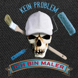 maler_totenkopf_pinsel_rolle_092016_a T-Shirts - Snapback Cap