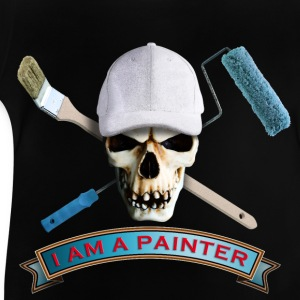 painter_skull_brush_092016_c T-Shirts - Baby T-Shirt