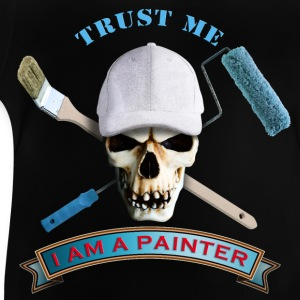 painter_skull_brush_092016_b T-Shirts - Baby T-Shirt