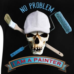 painter_skull_brush_092016_a T-Shirts - Baby T-Shirt
