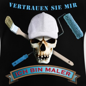 maler_totenkopf_pinsel_rolle_092016_b T-Shirts - Baby T-Shirt