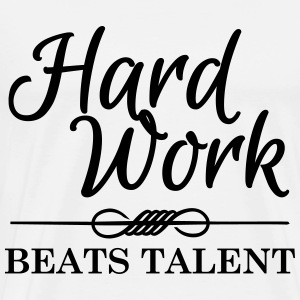 Hard work beats talent Shirts met lange mouwen - Mannen Premium T-shirt