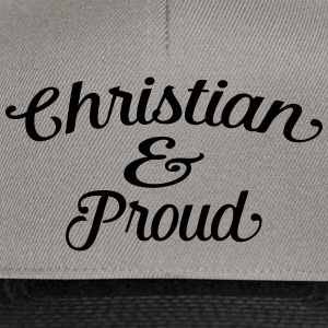 christian and proud Tee shirts - Casquette snapback