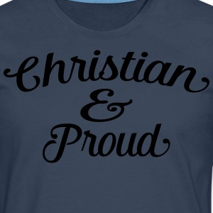 christian and proud Tee shirts - T-shirt manches longues Premium Homme