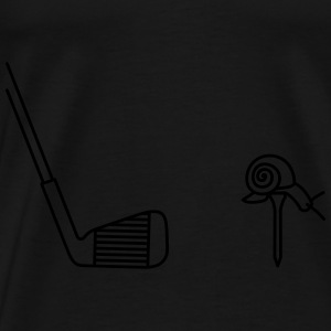 sac noir golf escargot - T-shirt Premium Homme