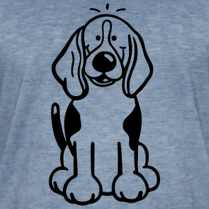 Happy Beagle Sweat-shirts - T-shirt vintage Homme