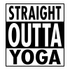 Straight Outta Yoga T-Shirts - Men's Slim Fit T-Shirt