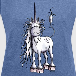 Unicorn Time Hoodies & Sweatshirts - Women's T-shirt with rolled up sleeves