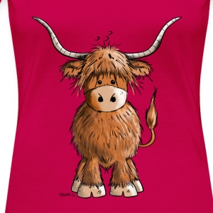 Scottish Highland Cattle Débardeurs - T-shirt Premium Femme
