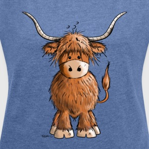 Scottish Highland Cattle Hoodies & Sweatshirts - Women's T-shirt with rolled up sleeves