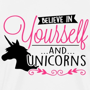 Einhorn: Believe in unicorns Tops - Männer Premium T-Shirt