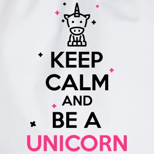 keep calm and be a unicorn T-Shirts - Turnbeutel