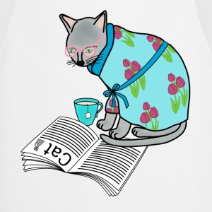 Breakfast cat t-shirt for women - Cooking Apron