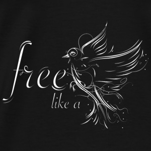 Bird in calligraphy style Bags & Backpacks - Men's Premium T-Shirt