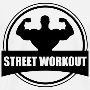 Street workout - Herre premium T-shirt