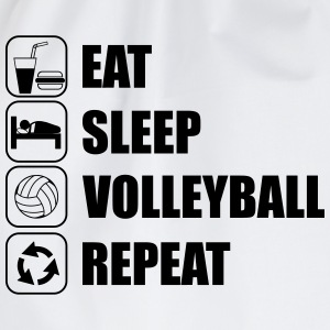 Eat,sleep,volleyball,repeat, volleyball volley T-s - Drawstring Bag