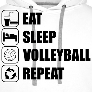Eat,sleep,volleyball,repeat, volleyball volley T-s - Sudadera con capucha premium para hombre
