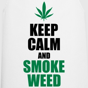 Keep calm and smoke weed - Cooking Apron
