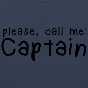 please, call me captain Mugs & Drinkware - Men's Premium Tank Top