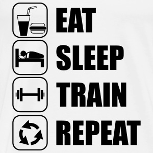 eat,sleep,train,repeat, Sport T-shirt - Men's Premium T-Shirt