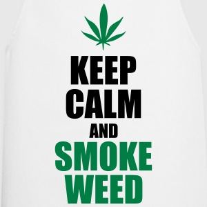 Keep calm and smoke weed - Tablier de cuisine