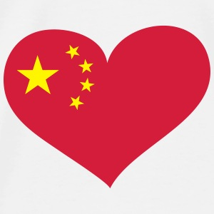 China Herz; Heart China Babyhaklapp - Premium-T-shirt herr