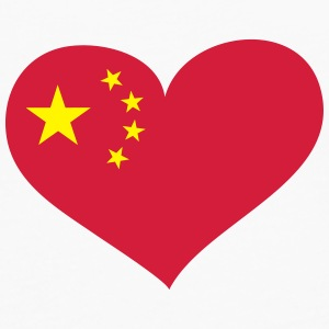 China Herz; Heart China Overig - Mannen Premium shirt met lange mouwen