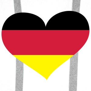 Deutschland Herz; Heart Germany Bags & Backpacks - Men's Premium Hoodie