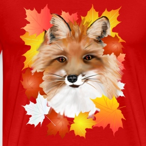 FACE in FALL-Fox eye view - Männer Premium T-Shirt