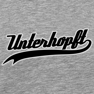 Unterhopft - Funny Bavarian Beer / Humor Slogan Long Sleeve Shirts - Men's Premium T-Shirt