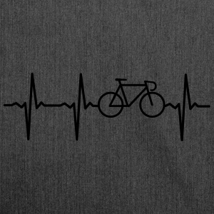 Heartbeat - Bicycle T-shirts - Axelväska av återvinningsmaterial