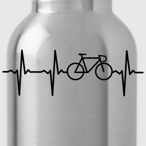 Heartbeat - Bicycle T-Shirts - Trinkflasche