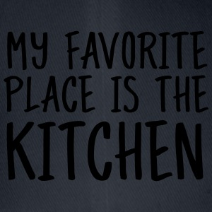 My Favorite Place Is The Kitchen  Aprons - Flexfit Baseball Cap