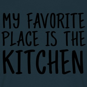 My Favorite Place Is The Kitchen  Aprons - Men's T-Shirt