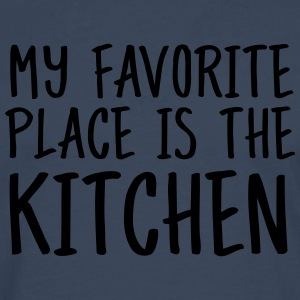 My Favorite Place Is The Kitchen  Aprons - Men's Premium Longsleeve Shirt