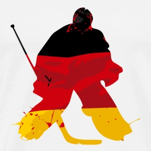 Hockey Keeper - German Flag Langarmshirts - Männer Premium T-Shirt