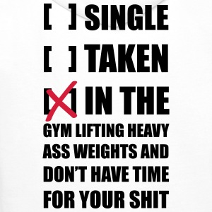 Single? I'm in the Gym lifting heavy Weights ... T - Herre Premium hættetrøje