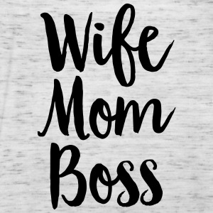 Wife - Mom - Boss Camisetas - Camiseta de tirantes mujer, de Bella