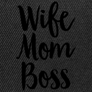 Wife - Mom - Boss T-shirts - Snapback cap