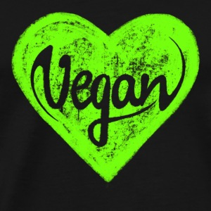 Vegan - a heart for animals, protection, nature,   Tasker & rygsække - Herre premium T-shirt