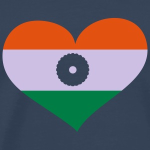 Indien Herz; Heart India Manches longues - T-shirt Premium Homme
