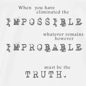 Impossible Improbable Truth Bags & Backpacks - Men's Premium T-Shirt