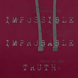 Impossible Improbable Truth T-Shirts - Contrast Colour Hoodie