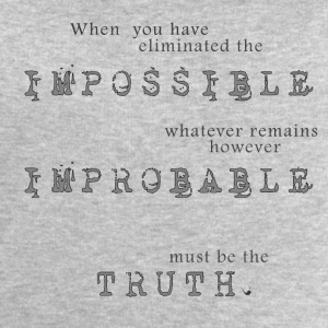 Impossible Improbable Truth Other - Men's Sweatshirt by Stanley & Stella