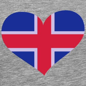 Island Herz; Heart Iceland Long sleeve shirts - Men's Premium T-Shirt
