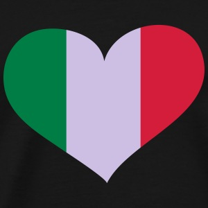 Italien Herz; Heart Italia Manches longues - T-shirt Premium Homme