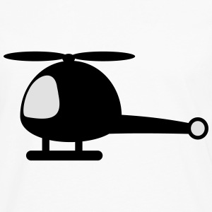 Helicopter cartoon T-Shirts - Männer Premium Langarmshirt